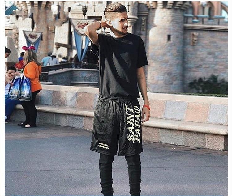 Kanye West Saint Pablo Seobean Short Skateboard Shorts Men Hip Hop Rapper Rocker Drake Summer Fashion Men Short Pants Moda Praia