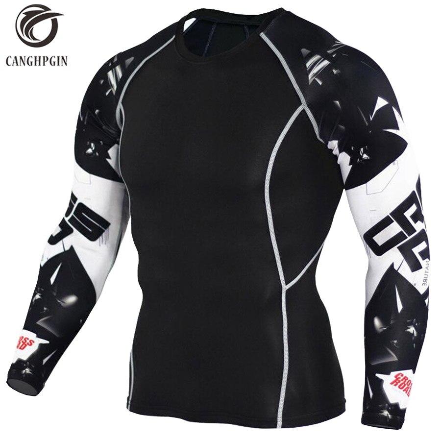 Camiseta con estampado de lobo 3D medias de compresión para hombre Camiseta para correr transpirable manga larga deporte Rashgard Gym ciclismo ropa
