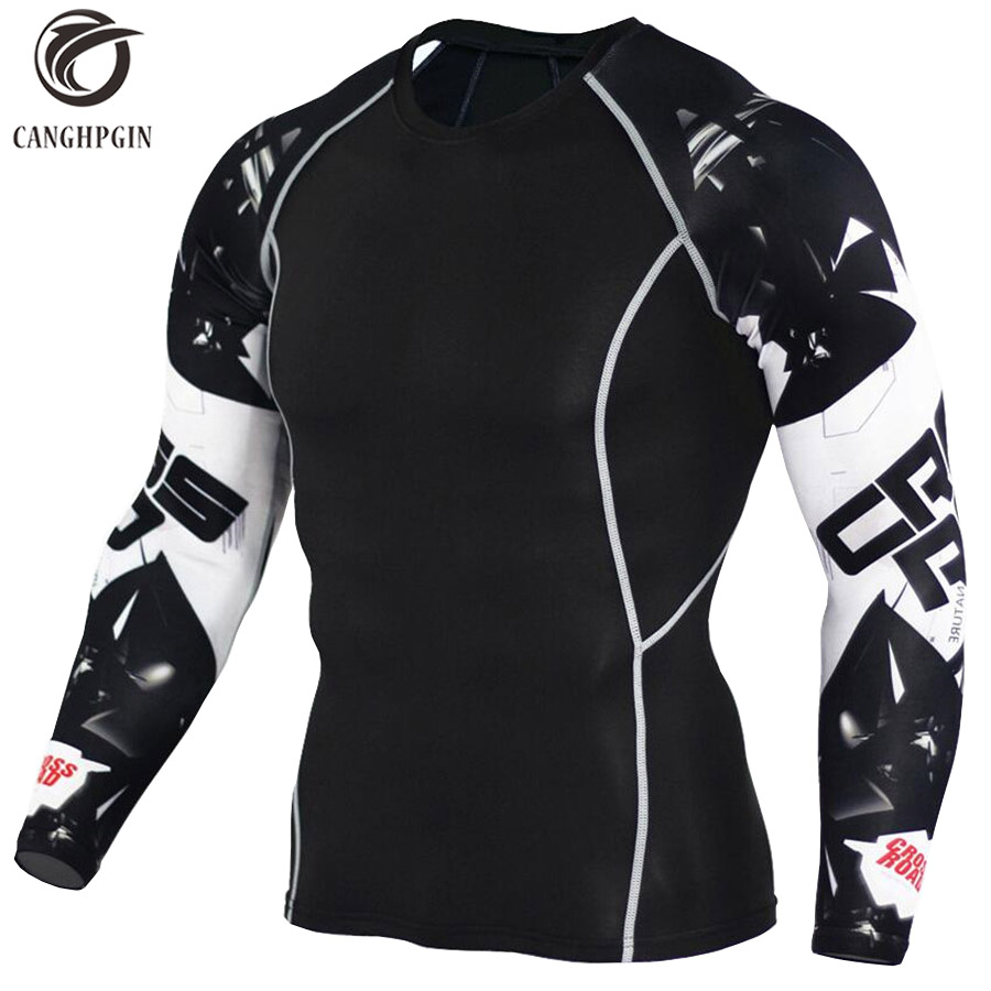 Wolf 3D Printed tshirt Compression Tights Men Fitness Running Shirt Breathable Long Sleeve Sport Rashgard Gym