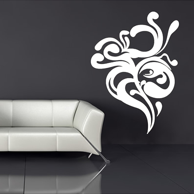 New fashion wall sticker quotes vinyl abstract white flower wall new fashion wall sticker quotes vinyl abstract white flower wall decal art home decor for living mightylinksfo