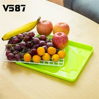 Food Dish Fruit Tray Kitchen Tool Dry Multi Function Storage Rack Draining Board Cooking For Living