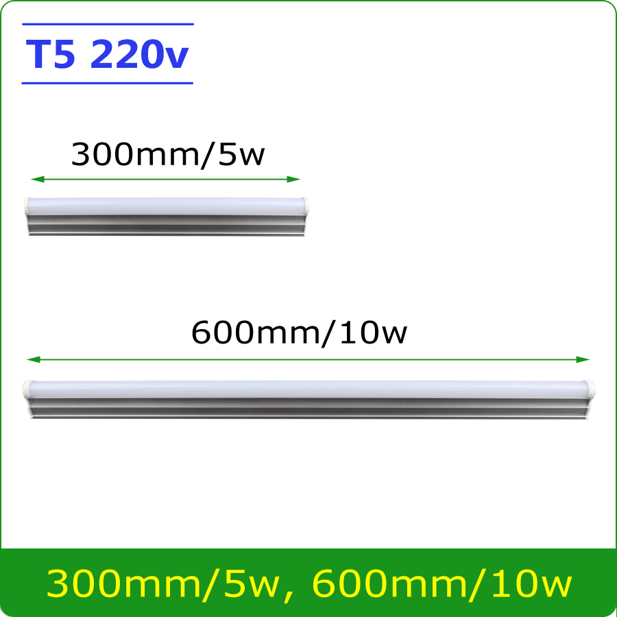 Free Shipping 5W 10W LED Tube T5 Light 220V 240V 60cm 30cm led wall lamp Warm Cold White led fluorescent T5 neon led lamp поводок hoxwell hl92