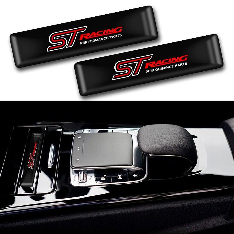 10 pçs estilo do carro st logotipo barra de proteção adesivos estilo do carro emblema emblema do carro auto exterior decalque adesivo para ford focus st mondeo