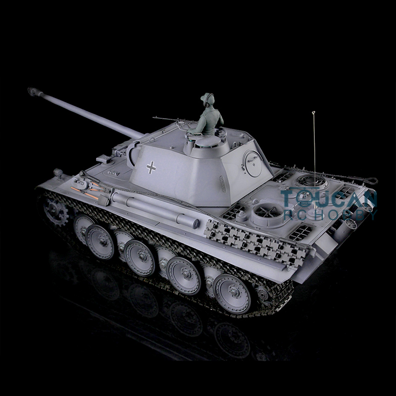 HengLong 1/16 Scale Gray Customizd Ver German Panther G RC Tank Model 3879 Metal Tracks Sprockets Idlers Road Wheels цена и фото
