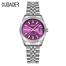 OUBAOER Brand New XFCS Womens Watch relogio feminino Quartz Watches Stainless Steel Strap Simple Casual Style Wristwatch saat