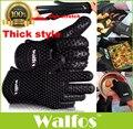 WALFOS 1 unidades a prueba de Calor De caucho de Silicona de grado alimenticio BBQ Parrilla Guante para horno de cocina Guante de Cocina Horno manoplas guante de cocina