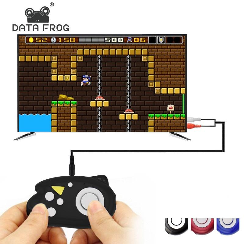 Dados 8 Pouco Sapo Retro Mini Video Game Console Game Player Construir Em Jogos Clássicos 89 TV Consoles De Vídeo Da Família brinquedos de presente