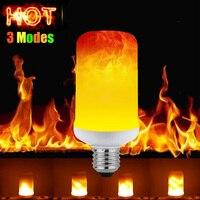 10 шт./лот модернизации 3 режима светодиодный пламя лампы e27 пламя лампы AC110V 220 В 230 В 240 В 50/ 60 Гц огня 7 Вт e27 светодиодный пламя лампы