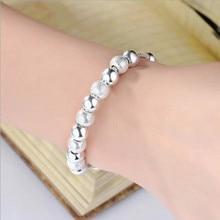 370f226735c Fancy Women Bracelet Fashion Handmade Jewelry Pull Push Bangles Silver  Beads Crystal Lace 100% Top