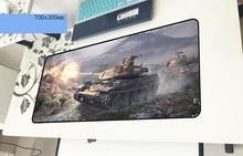 World of Tanks геймерский коврик для мыши 700x300x3 мм игровой коврик для мыши Красочный ноутбук аксессуары для ПК ноутбук padmouse эргономичный коврик