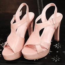 2550ea251 2017 Promoção Das Senhoras Sapatos Moda Sapato Feminino Tamanho Grande 32-43  Sandálias Das Senhoras
