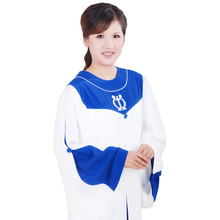 Christian Choir Long Robe chiesa vestito Iglesia bata bata Nun Choir Costume Robe in Pink Blue Gown Mass Church Service Vestment цена 2017