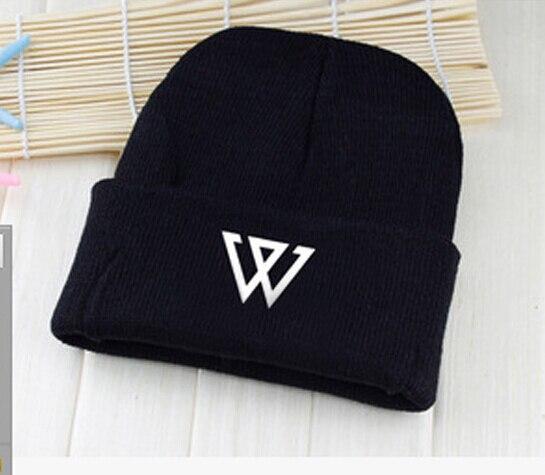 Kpop winter winner hat unisex capital W printing Skullies & Beanies for women men gorros