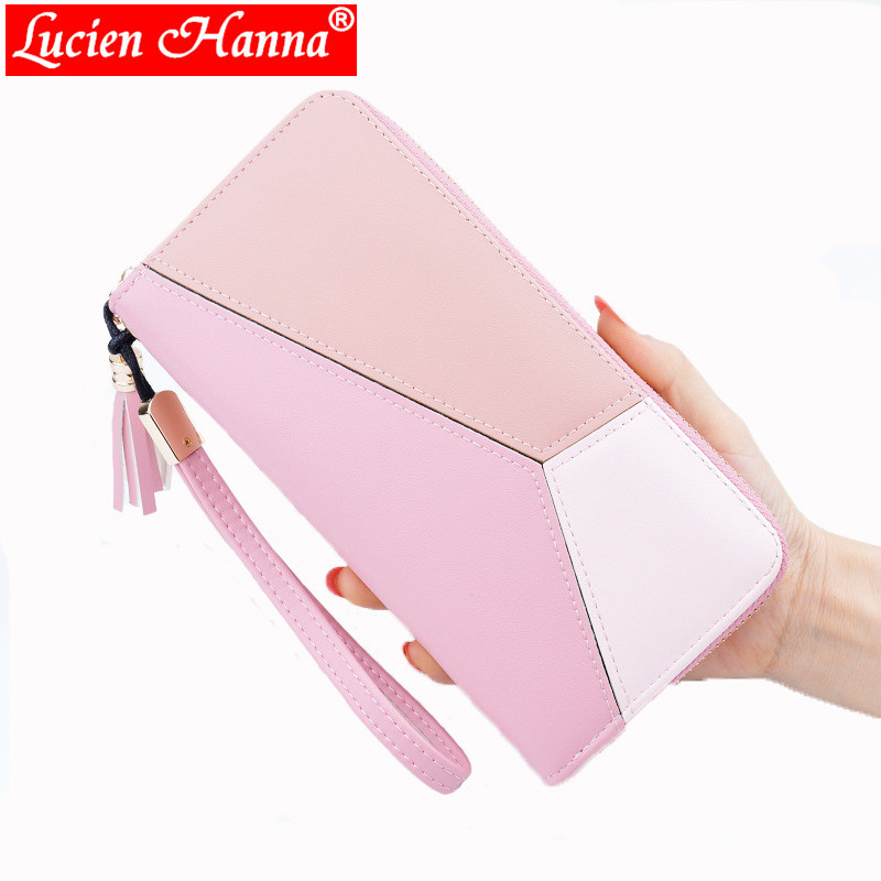все цены на Brand Wallet Coin Purse PU Leather Women Wallet Purse Wallet Female ID Card Cash Holder Long Lady Clutch Purse Carteira Feminina