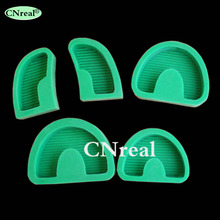 1 set Dental Plaster Model Base Molds for Dentist Laboratory Green (5 pcs/set)