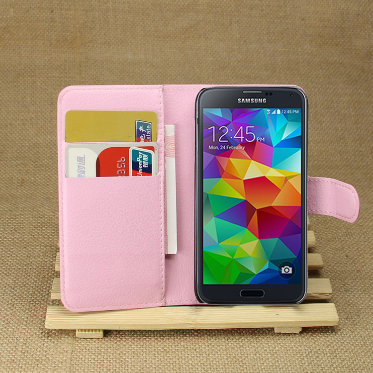 Hot Wallet Case For Samsung Galaxy S5 Mini Magnetic Flip PU Leather Case With Photo Frame Card Holder Smart Stand Cover Fashion ...