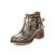 2017 Europa Mulheres Moda Ankle Boots Fivela Botas Botas de Salto Quadrado Sapatos de Mulher Zíper Elegante Tornozelo Martin Botas Sapatos Primavera Outono