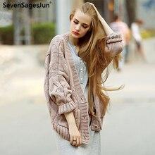 SSJ Casual Knitting Cardigan Female Loose Wool Knitted 2018 Warm Women Winter Sweaters Oversize