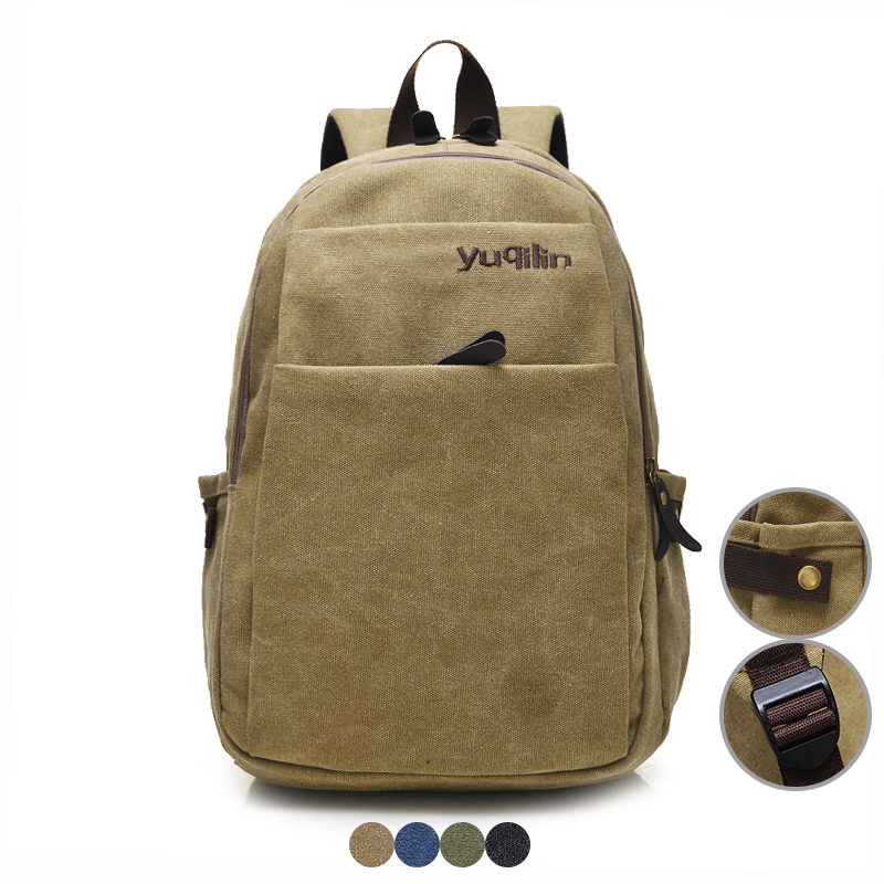 Laptop Backpack for Student Vintage Style Men Canvas Bagpack Casual School Bag for Boys Women Travel Bags High Quality Rucksack new canvas backpack travel bag korean version school bag leisure backpacks for laptop 14 inch computer bags rucksack