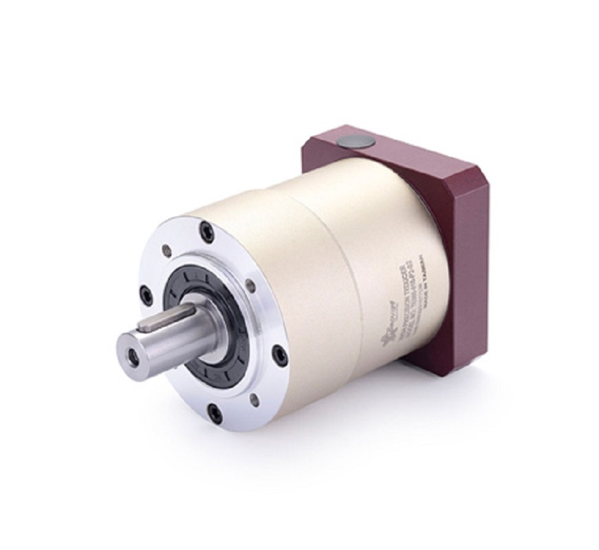 цена на 90 round flange Spur gear planetary reducer gearbox 12 arcmin 15:1 to 100:1 for 750w AC servo motor input shaft 19mm