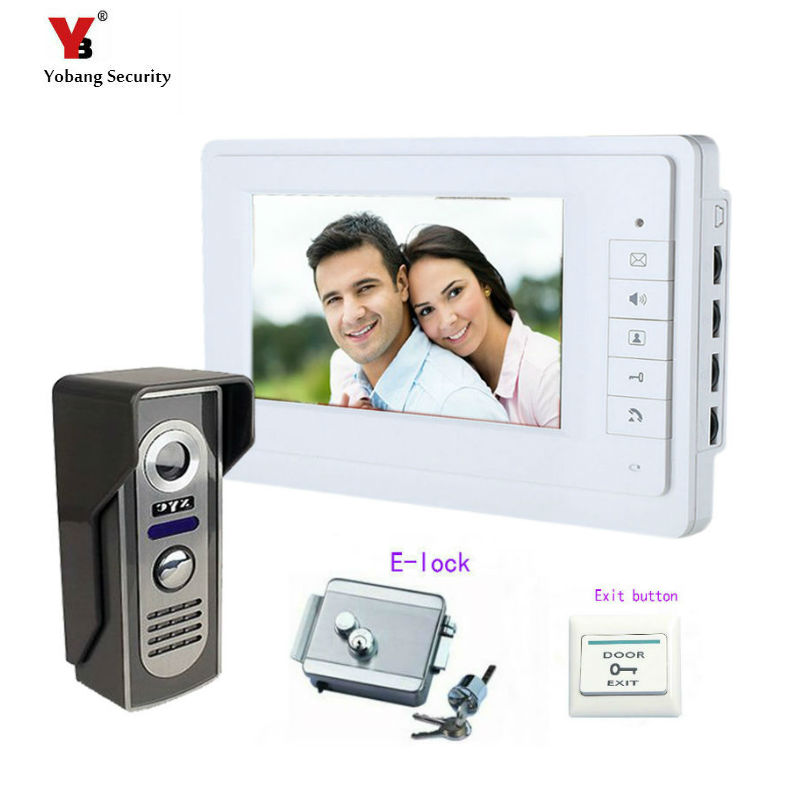 Yobang Security 7inch Color Rainproof Door Phone Video Monitor Security Camera Video Door Monitor LCD Door Viewer+Electric lock aputure digital 7inch lcd field video monitor v screen vs 1 finehd field monitor accepts hdmi av for dslr