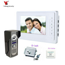 Yobang Security 7inch Color Rainproof Door Phone Video Monitor Security Camera Video Door Monitor LCD Door Viewer+Electric lock