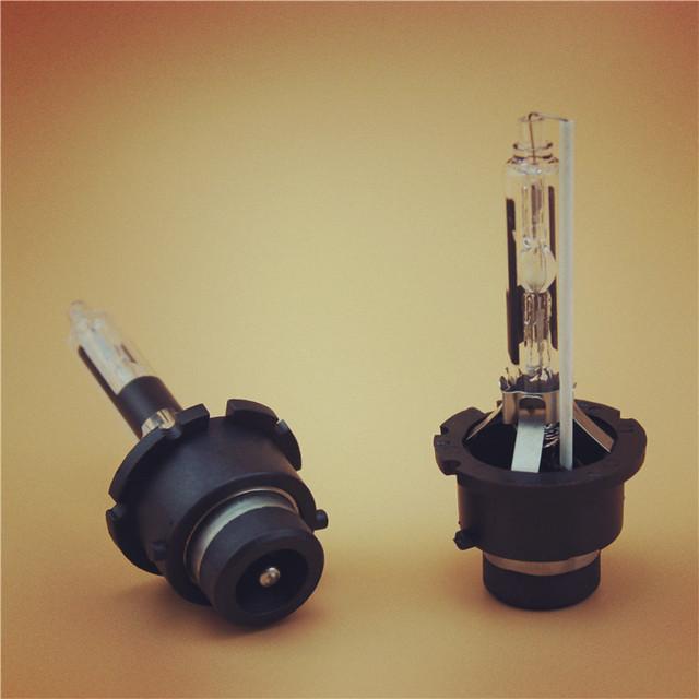 2 UNIDS D4R HID Xenon bombilla D4R lámpara con soporte de metal reemplazo de la Fuente de Luz Del Coche de La Lámpara de Iluminación Del Faro 35 W 4300 K 6000 K 8000 K