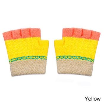 Πλεκτά βαμβακερά βρεφικά γάντια με ελεύθερες τις άκρες των δακτύλων Παιδικά Ρούχα Ρούχα MSOW