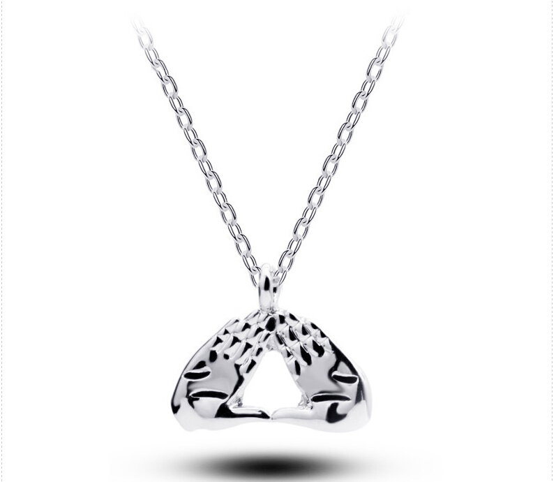 10pcs free shipping delta sigma theta dst necklace hand for Delta sigma theta jewelry