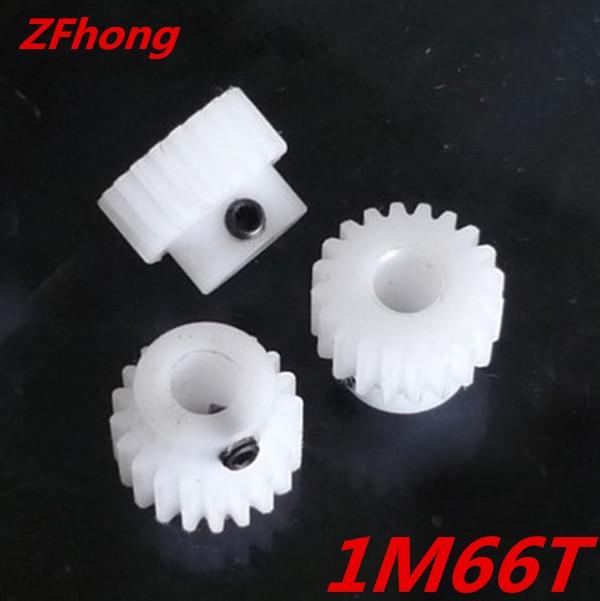 2pcs POM Nylon Gear 1M66T 66 Ttooth Teeth Mould 1.0 Plastic Gear Bore 12MM цена