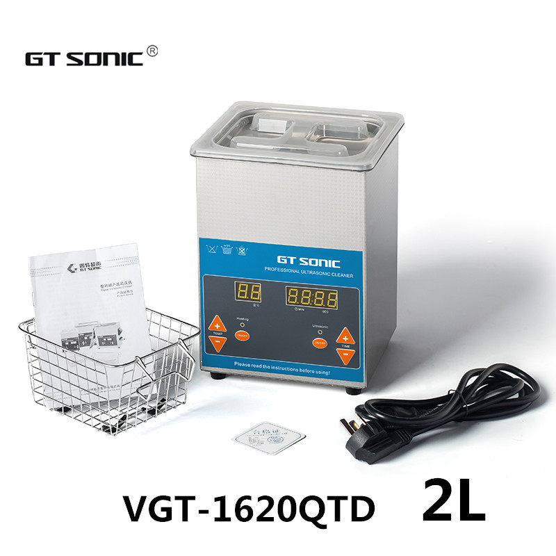 GT SONIC 2.0L Digital Ultrasonic Cleaner Machine with Timer Heated Cleaning tank Uultrasonic Bath VGT-1620QTD free dhl 1pc digital ultrasonic cleaner for industry specific cleaning with degas function with dual frequency power gt 1730qts