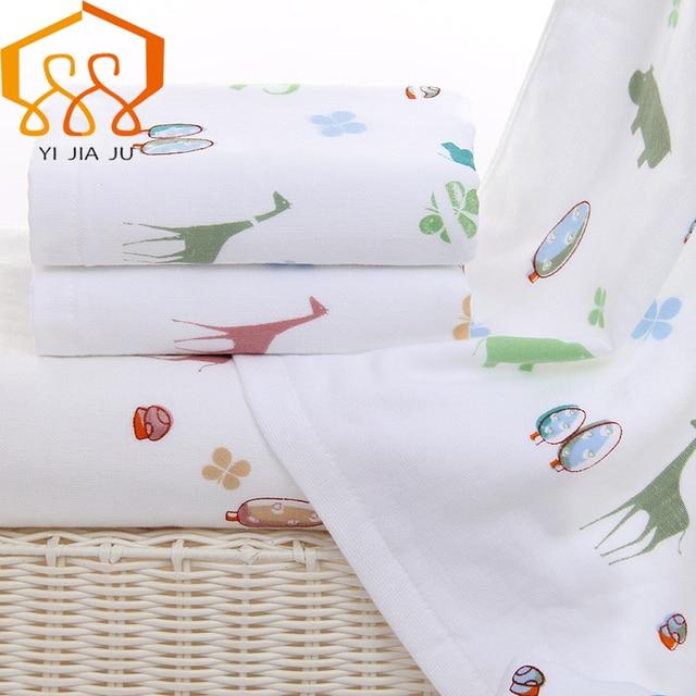 Bath Towel 100 Cotton Elephant Cartoon Gauze Solid Beach For S Fast Drying Soft