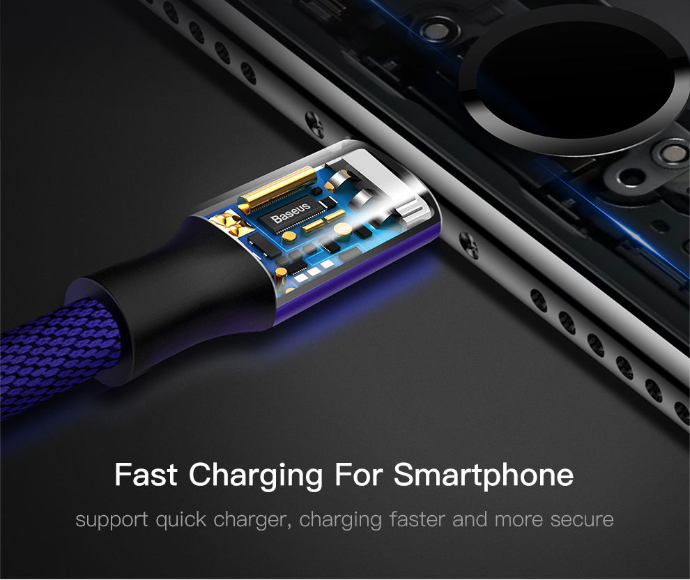 Baseus USB Cable For iPhone Xs Max Xr X 11 8 7 6 6s 5s iPad Fast Charging Charger Mobile Phone Cable For iPhone Wire Cord 3m 5m 9