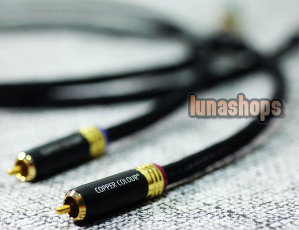 1m Copper Colour CC Whisper SE RCA Male To Male Audio Cable1.6mm pure silvered