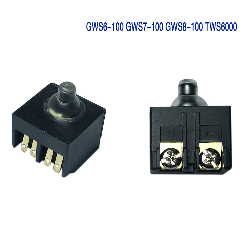 1PCS Angle Grinder AC 250V 6A 125V/10A DPST Pushbutton Switch For Bosch GWS6-100 GWS7-100 GWS8-100 TWS6000