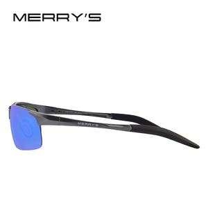 Image 3 - MERRYS Men Polarized Sunglasses Aviation Aluminum Magnesium Sun Glasses For Driving Fishing Rectangle Rimless Shades S8277