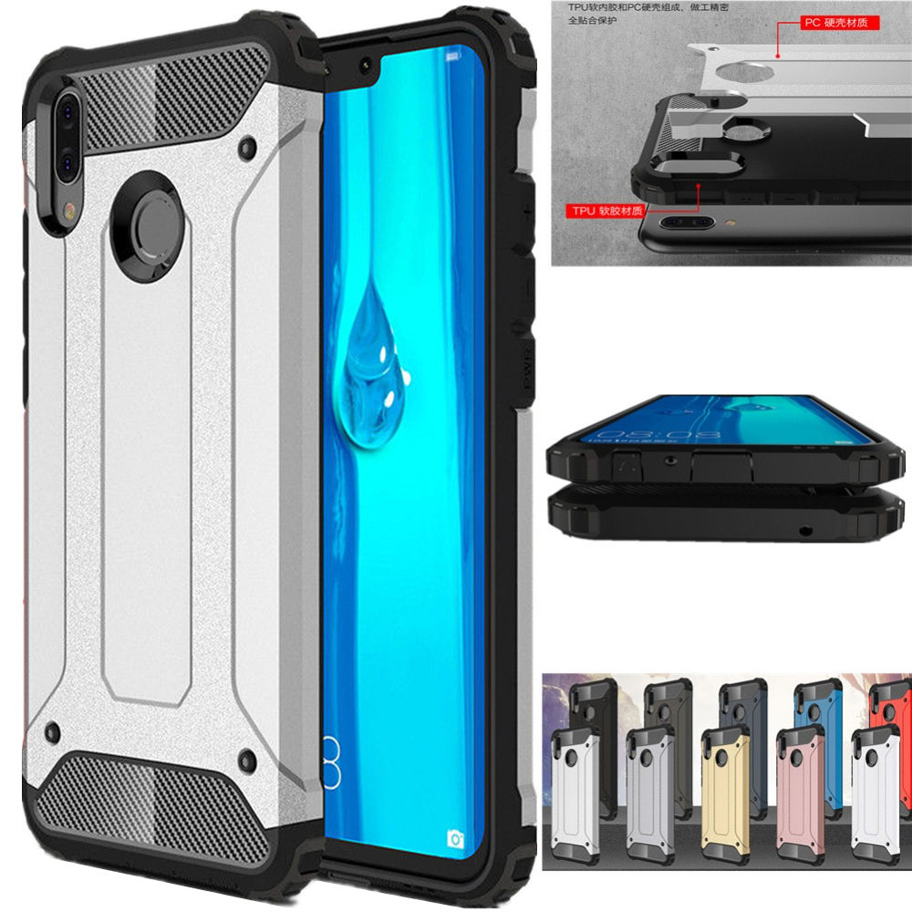 Rugged Armor <font><b>Case</b></font> For <font><b>Huawei</b></font> Y9 2019 Y7 Y6 <font><b>Y5</b></font> Prime <font><b>2018</b></font> 2019 Phone <font><b>Case</b></font> For <font><b>Huawei</b></font> Y9 Prime 8s Y7 Y6 <font><b>Y5</b></font> <font><b>2018</b></font> Cover Capa Funda image