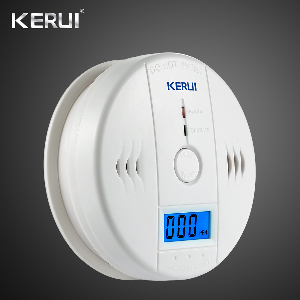 LCD Photoelectric Carbon Monoxide Home Security Alarm CO Gas Sensor Detector Alarm Warning High Sensitive Independent