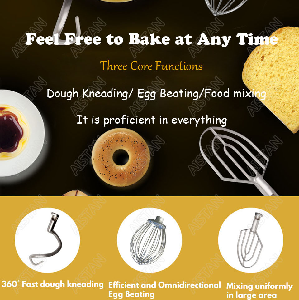 B20A/B30A commercial electric 20L/30L food mixer planetary mixer dough mixer machine for dough kneading/ egg beating/food mixing 3