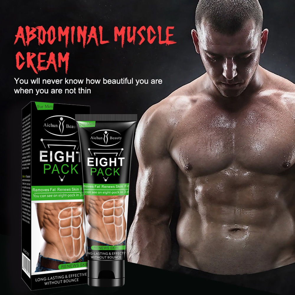 Men Eight Pack Stronger Muscle Cream Waist Torso Smooth Lines Press Fitness Belly Burning Muscle Fat Removal Lossing Weight
