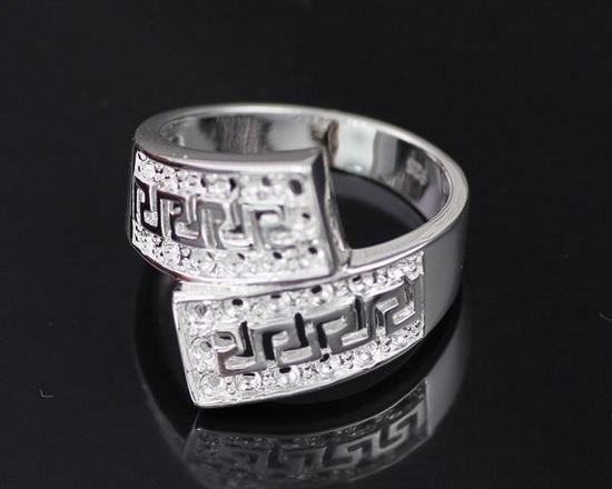 JZR203 argento All'ingrosso ha placcato l'anello, prezzo di fabbrica di abbiglia