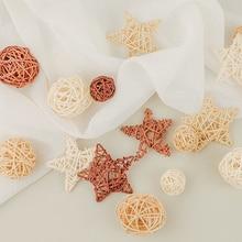 9 шт. плетеные шарики из натурального ротанга, шары Sepak Takraw, реквизит для фотосъемки, аксессуары для фотостудии, украшение для дома