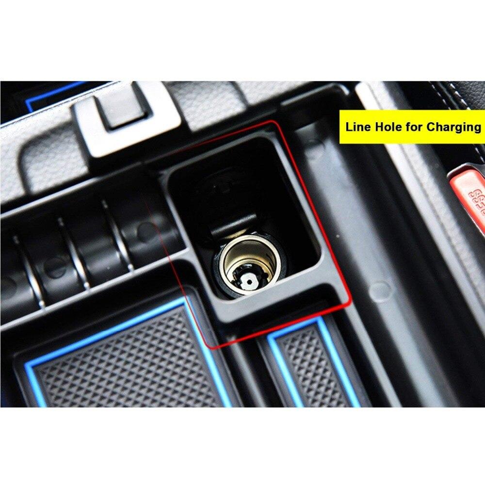 RUIYA bracciolo centrale scatola di immagazzinaggio contenitore del supporto del vassoio misura per Nissan Rogue X-Trail T32 di immagazzinaggio console inserto della borsa del sacchetto vassoio