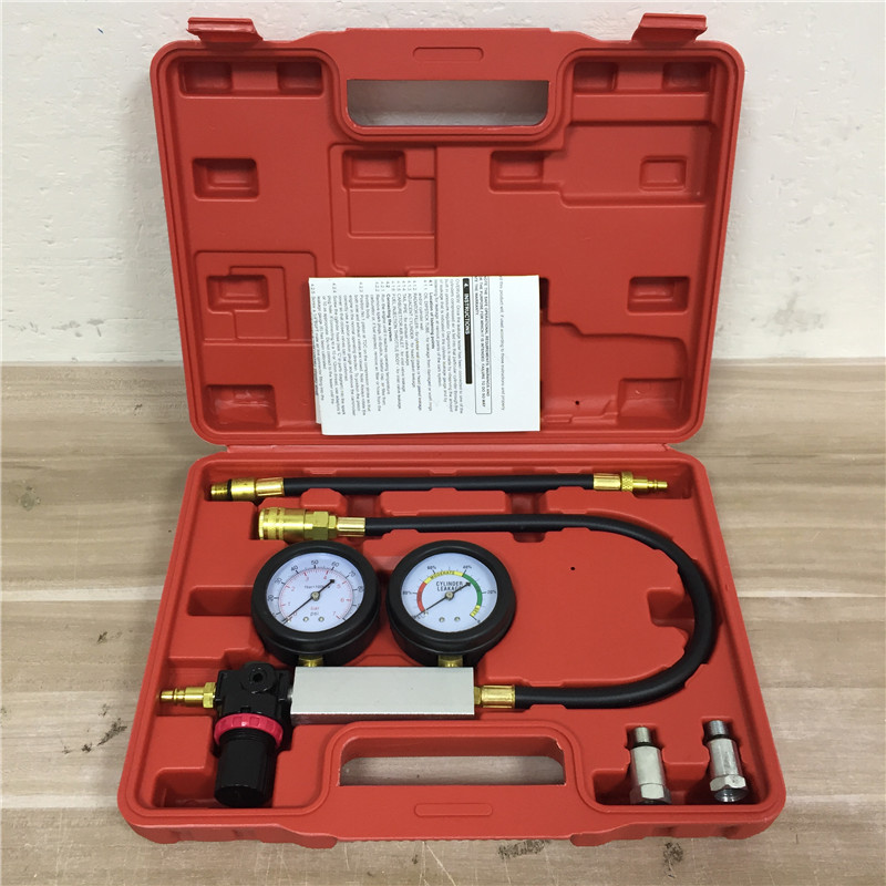 Auto Cylinder Leak Tester Compression Gauge Leakage Detector Kit Set Petrol Tool
