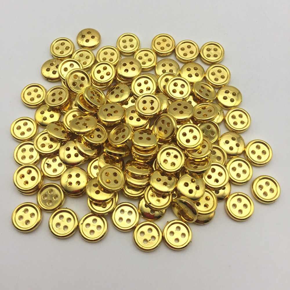 20mm 7x geniales plástico-botones-blanco//oro