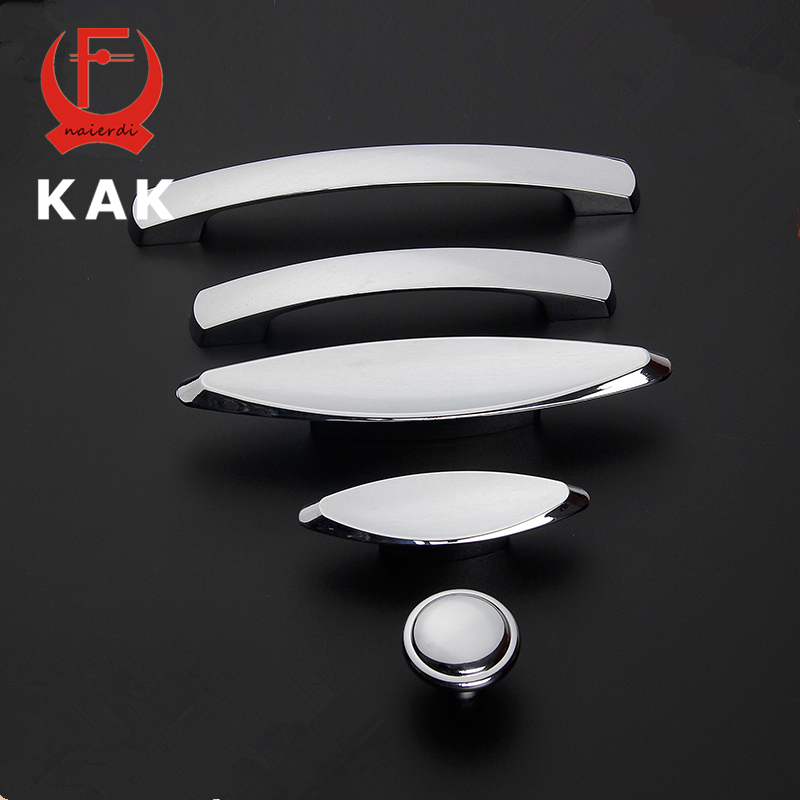 KAK 5pcs/lot Deluxe Zinc Alloy Modern Handles Kitchen Cabinet Cupboard Door Drawer Knobs Handles Wardrobe Pulls Furniture Handle