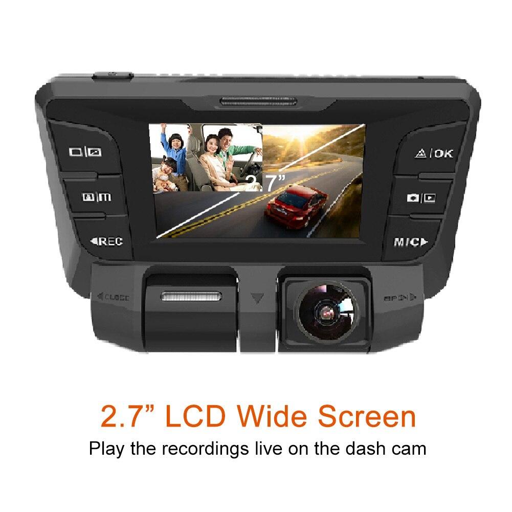 1080 P voiture DVR 2.7 pouces double lentille 1080 P + FHD Auto caméra enregistreur de conduite vidéo B90D super large degrés avant rétroviseur caméra de bord