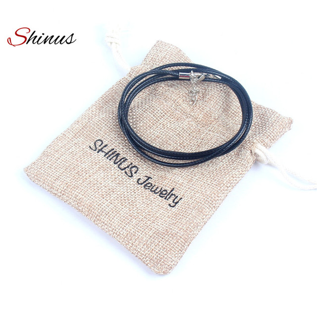 Shinus Fashion Black Leather Necklace Women Men Jewelry Statement Necklaces Chokers Handmade Braided Friendship Collier Femme