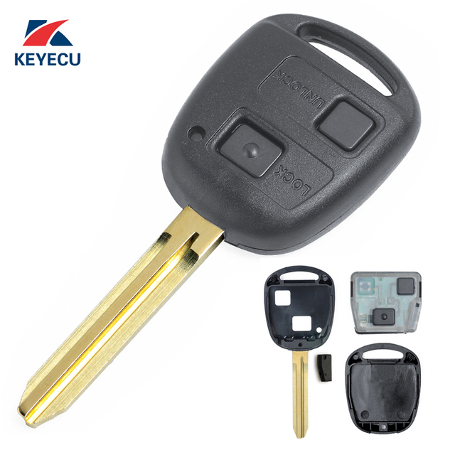 Keyecu Replacement Remote Car Key Fob 2 Button 433mhz 4c For Toyota