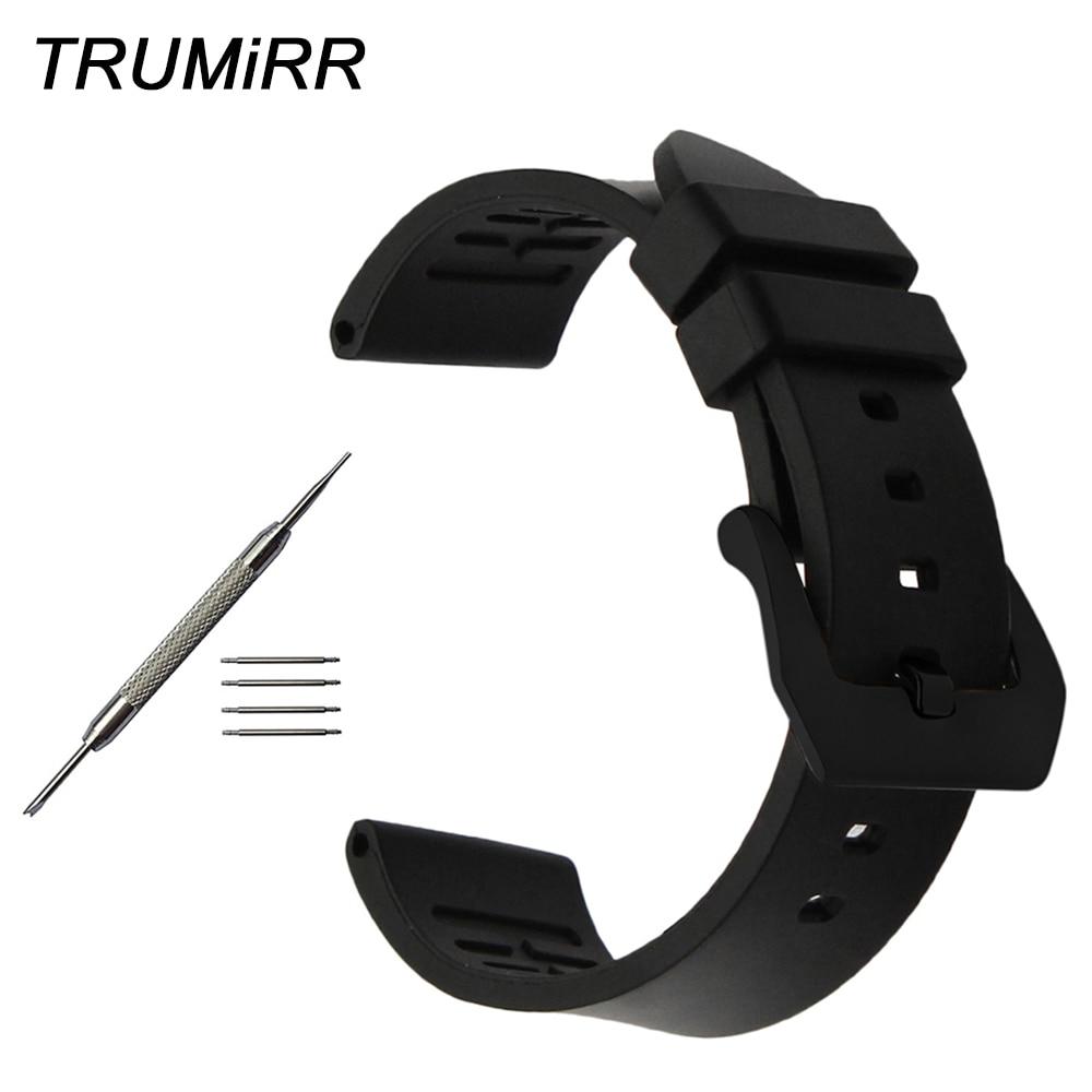 Fluoro Rubber Watchband 22mm 24mm for Diesel DZ Armani Timex CK Watch